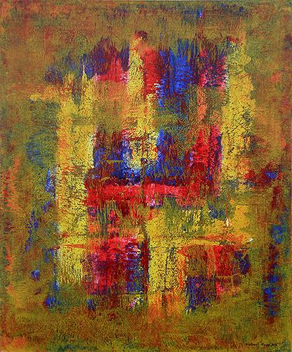 Friedhard Meyer, Mystischer Ort, Abstract art, Fantasy, Contemporary Art