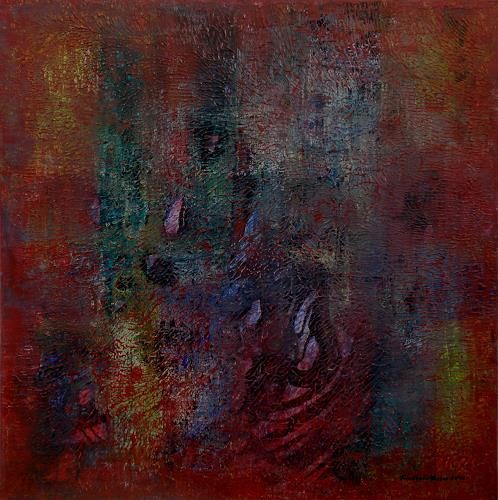 Friedhard Meyer, Rot 3, Abstract art, Poetry, Contemporary Art