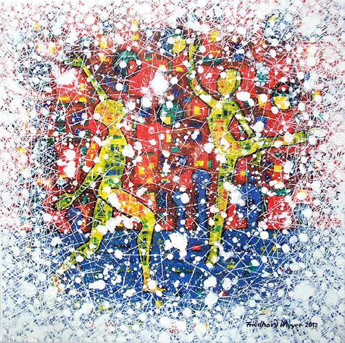 Friedhard Meyer, Schwanensee 1, Poetry, People: Group, Contemporary Art
