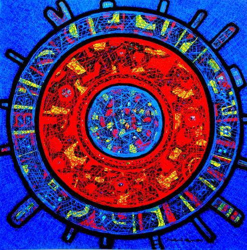 Friedhard Meyer, Mandala 30, Mythology, Symbol, Contemporary Art
