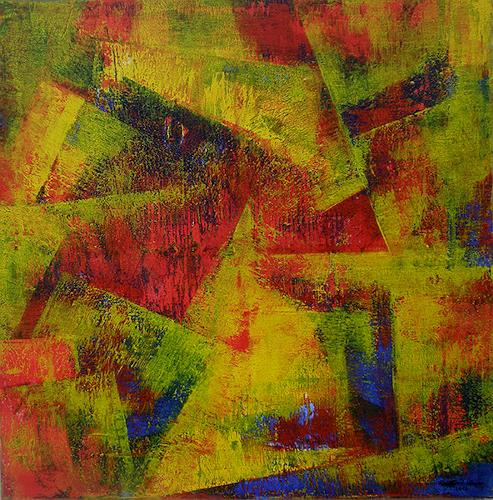 Friedhard Meyer, Angles 1, Abstract art, Fantasy, Contemporary Art
