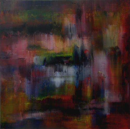 Friedhard Meyer, Fallende Wasser, Abstract art, Miscellaneous, Contemporary Art
