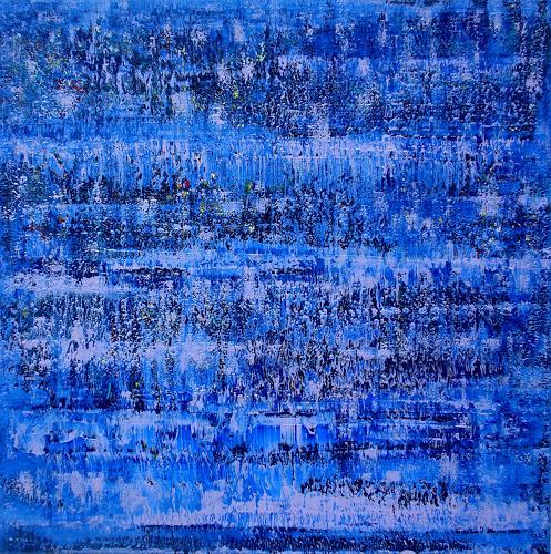 Friedhard Meyer, Phthaloblau, Abstract art, Decorative Art, Contemporary Art