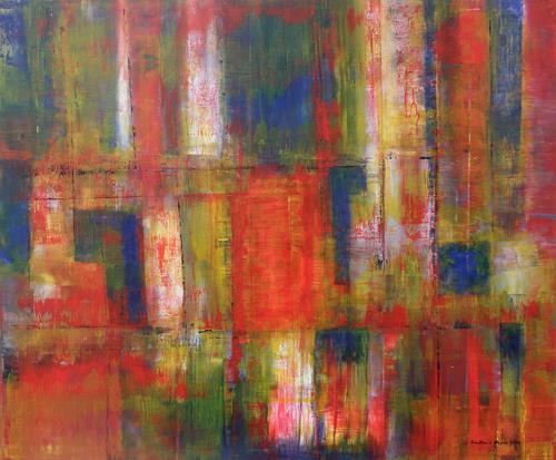 Friedhard Meyer, Zinnober is back, Abstract art, Decorative Art, Contemporary Art