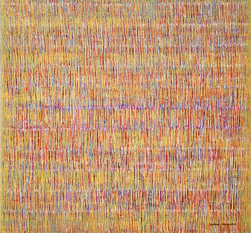 Friedhard Meyer, Farbzone Mixed 1, Abstract art, Decorative Art, Contemporary Art