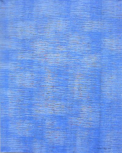 Friedhard Meyer, Farbzone Blau 4, Abstract art, Decorative Art, Contemporary Art