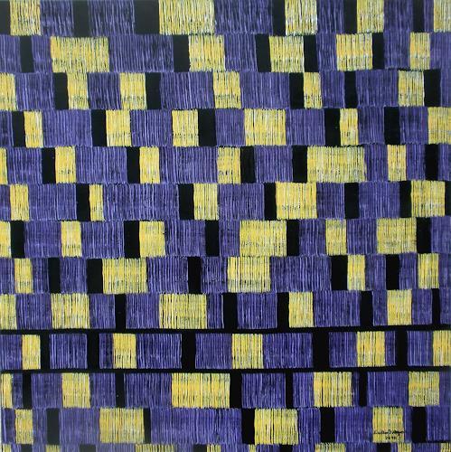 Friedhard Meyer, Farbzone Gelb-Violett, Abstract art, Decorative Art, Contemporary Art
