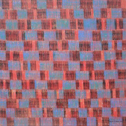 Friedhard Meyer, Farbzone Blau-Schwarz, Abstract art, Decorative Art, Contemporary Art