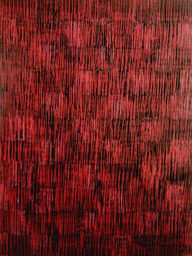 Friedhard Meyer, Farbzone Rot 1, Poetry, Abstract art, Contemporary Art