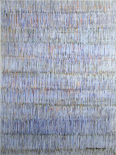 Friedhard Meyer, Farbzone Blau 2, Poetry, Abstract art, Contemporary Art
