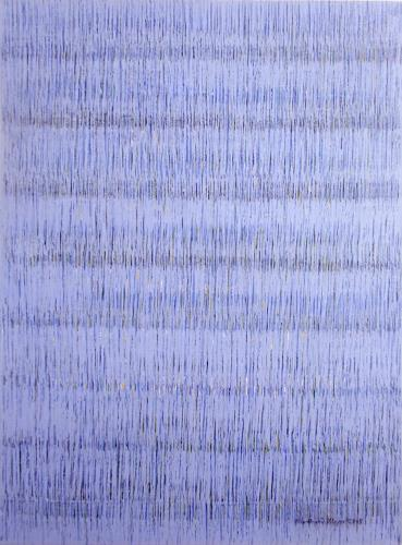 Friedhard Meyer, Farbzone Blau 3, Abstract art, Poetry, Contemporary Art