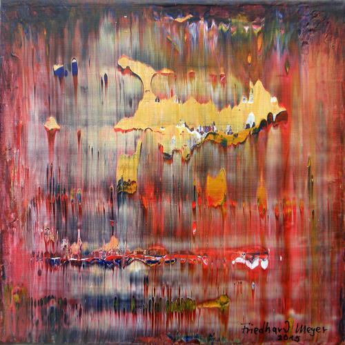 Friedhard Meyer, Poetischer Zauber 4, Abstract art, Poetry, Contemporary Art