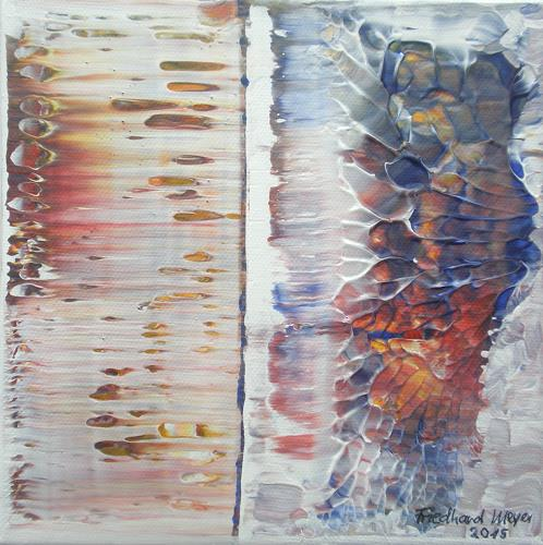 Friedhard Meyer, Poetischer Zauber 9, Abstract art, Poetry, Contemporary Art
