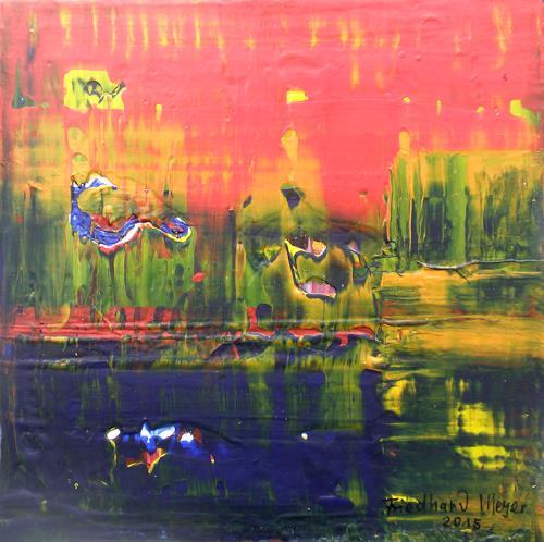 Friedhard Meyer, Poetischer Zauber 12, Abstract art, Poetry, Contemporary Art, Abstract Expressionism