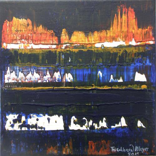 Friedhard Meyer, Poetischer Zauber 13, Abstract art, Poetry, Contemporary Art