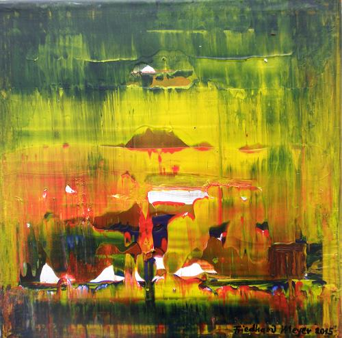 Friedhard Meyer, Poetischer Zauber 14, Abstract art, Poetry, Contemporary Art