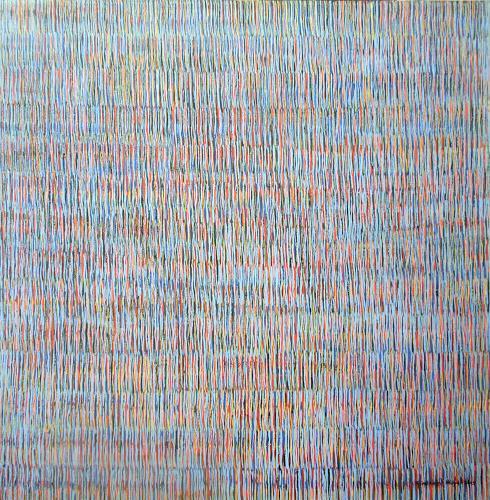 Friedhard Meyer, Farbzone Hellblau, Abstract art, Decorative Art, Contemporary Art