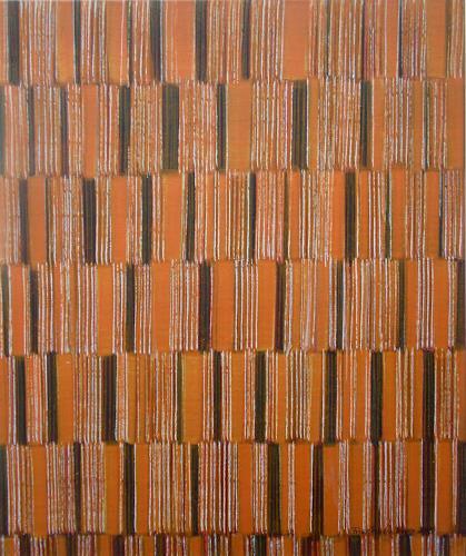 Friedhard Meyer, Farbzone Orange 3, Abstract art, Decorative Art, Concrete Art