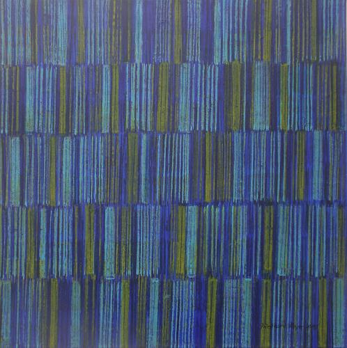 Friedhard Meyer, Farbzone Blau-Grün 1, Decorative Art, Abstract art, Concrete Art