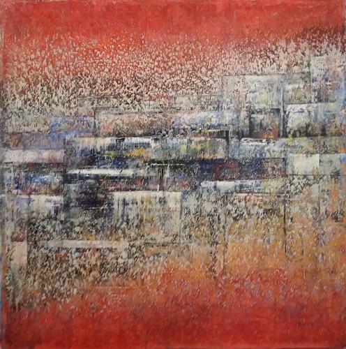 Friedhard Meyer, Terrassen, Architecture, Abstract art, Contemporary Art, Expressionism
