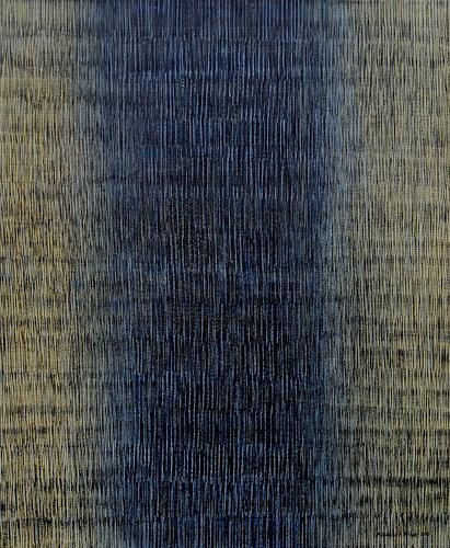Friedhard Meyer, Farbzone Schwarz-Gelb, Abstract art, Decorative Art, Contemporary Art