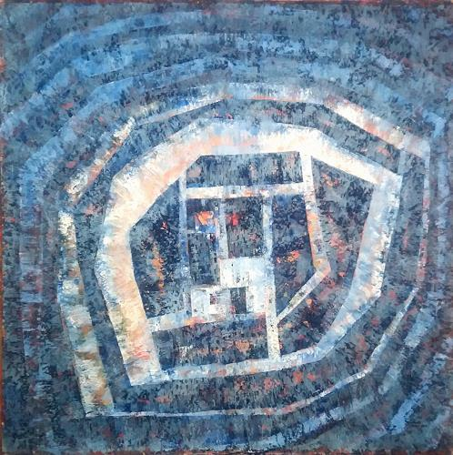 Friedhard Meyer, Blaues Wunder, Abstract art, Fantasy, Contemporary Art, Expressionism
