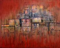 Friedhard-Meyer-Miscellaneous-Buildings-Fantasy-Contemporary-Art-Contemporary-Art