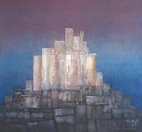 Friedhard-Meyer-Buildings-Houses-Fantasy-Contemporary-Art-Contemporary-Art