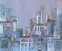 Friedhard-Meyer-Fantasy-Miscellaneous-Buildings-Contemporary-Art-Contemporary-Art