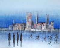 Friedhard-Meyer-Miscellaneous-Buildings-People-Group-Contemporary-Art-Contemporary-Art