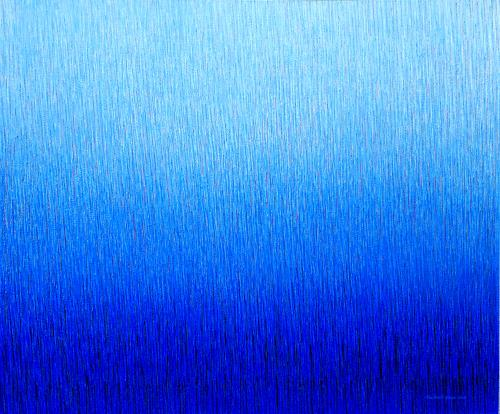 Friedhard Meyer, Farbzone Ultramarin 6, Abstract art, Fantasy, Contemporary Art