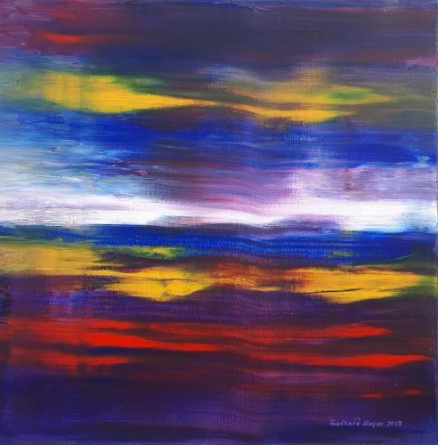 Friedhard Meyer, Licht am Horizont, Landscapes, Fantasy, Contemporary Art