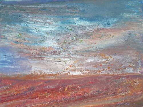 Friedhard Meyer, Küstenlandschaft 2, Landscapes: Sea/Ocean, Fantasy, Contemporary Art