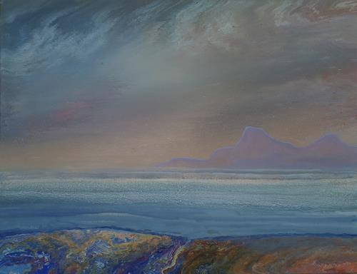 Friedhard Meyer, Küstenlandschaft 3, Landscapes: Sea/Ocean, Fantasy, Contemporary Art
