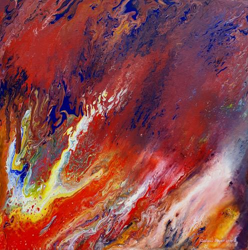 Friedhard Meyer, Inferno, Fantasy, Abstract art, Contemporary Art