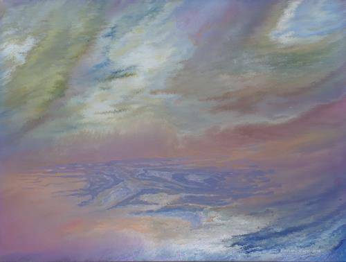Friedhard Meyer, Küstenlandschaft 6, Landscapes: Sea/Ocean, Fantasy, Contemporary Art