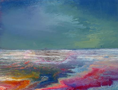 Friedhard Meyer, Küstenlandschaft 10, Landscapes: Sea/Ocean, Fantasy, Contemporary Art, Expressionism
