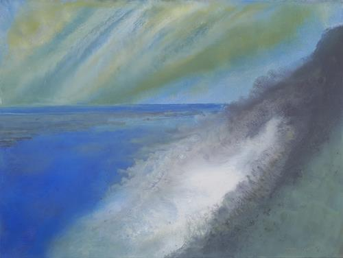 Friedhard Meyer, Hiddensee-Steilküste 2, Landscapes: Sea/Ocean, Miscellaneous Landscapes, Contemporary Art