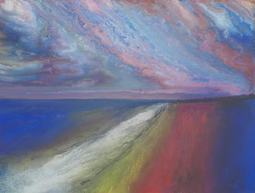 Friedhard Meyer, Hiddensee-Abendstimmung, Landscapes: Sea/Ocean, Miscellaneous Landscapes, Contemporary Art