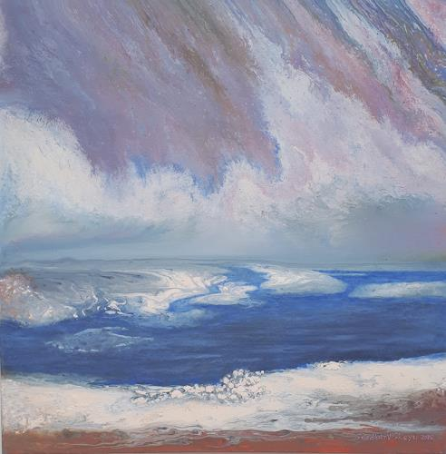Friedhard Meyer, Inseln im Strom, Landscapes: Sea/Ocean, Miscellaneous Landscapes, Contemporary Art, Expressionism