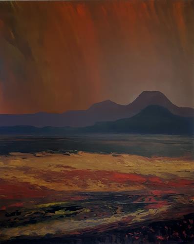 Friedhard Meyer, Dämmerung 2, Fantasy, Landscapes: Sea/Ocean, Contemporary Art, Expressionism