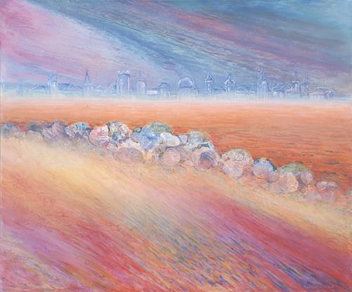 Friedhard Meyer, Verlorene Stadt, Miscellaneous Buildings, Landscapes, Contemporary Art, Expressionism
