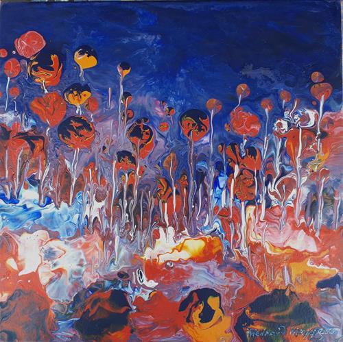 Friedhard Meyer, Kugelkopfbäume, Plants: Trees, Nature: Wood, Contemporary Art, Expressionism