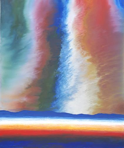 Friedhard Meyer, Lichtöffnung, Landscapes: Mountains, Miscellaneous Landscapes, Contemporary Art, Expressionism
