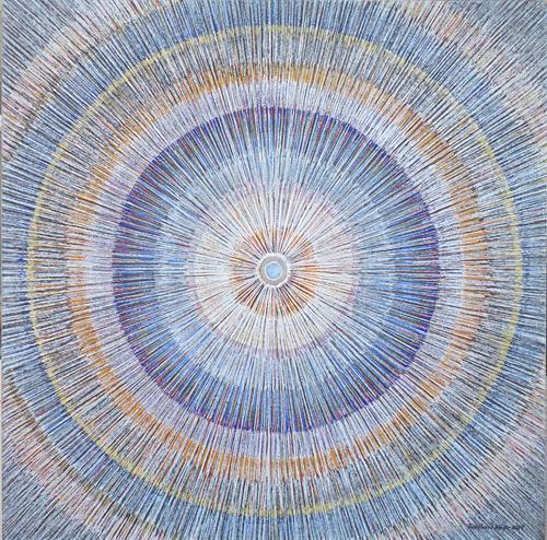 Friedhard Meyer, Mandala 3, Abstract art, Fantasy, Contemporary Art
