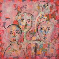 Friedhard-Meyer-People-Faces-People-Group-Contemporary-Art-Contemporary-Art