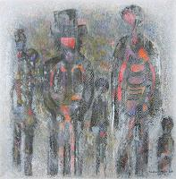 Friedhard-Meyer-People-Families-People-Group-Contemporary-Art-Contemporary-Art