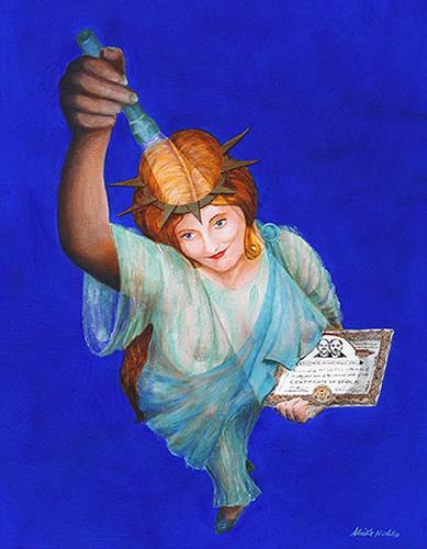 Meike Kohls, Lady Liberty, People: Women, Market, Contemporary Art