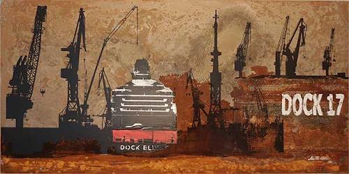 Meike Kohls, Dock 17, Industry  , Landscapes: Sea/Ocean, Modern Times, Expressionism