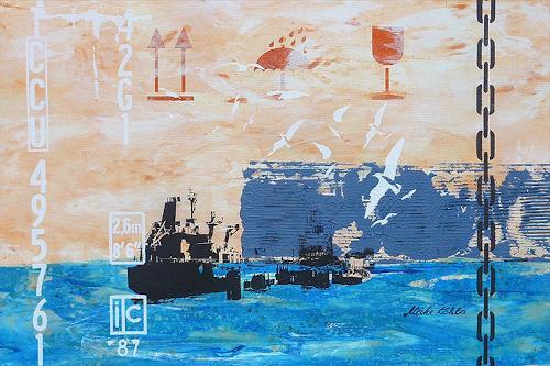 Meike Kohls, Tankschiff  - Tanker, Industry  , Landscapes: Sea/Ocean, Pop-Art, Expressionism